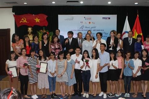 Remise des prix du concours «Jeunes Reporters Francophones» hinh anh 3