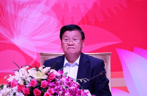 Le Premier ministre laotien dialogue avec des entreprises vietnamiennes hinh anh 1