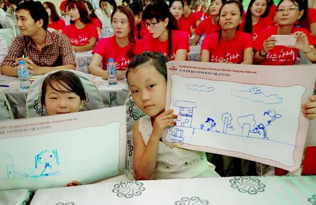 Un projet pour soutenir les femmes et enfants des familles muticulturelles Vietnam-R.de Coree hinh anh 1