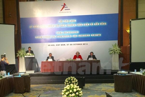 L'ASEM discute des competences vertes pour la croissance durable et inclusive hinh anh 1