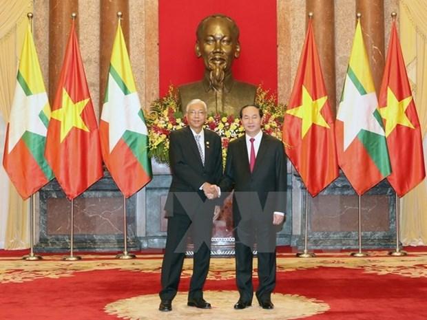 Le president birman Htin Kyaw termine sa visite au Vietnam hinh anh 1