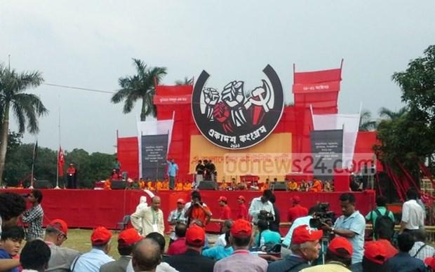 Une delegation du PCV au 11e Congres du Parti communiste de Bangladesh hinh anh 1