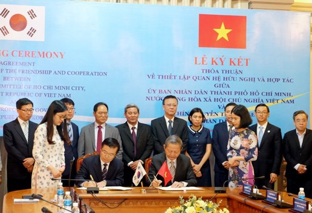 Ho Chi Minh-Ville et Seoul signent un accord de cooperation hinh anh 1