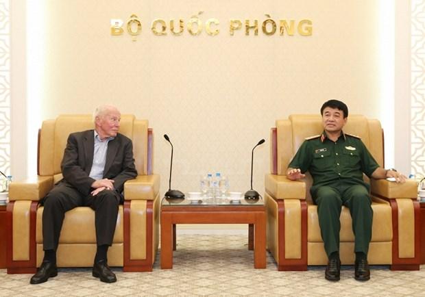 Une delegation militaire allemande en visite de travail au Vietnam hinh anh 1