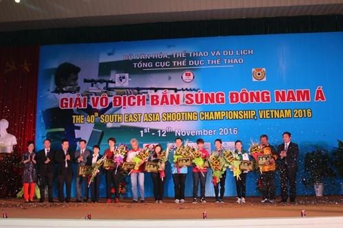Ouverture des Championnats de tir d'Asie du Sud-Est 2016 a Hanoi hinh anh 1