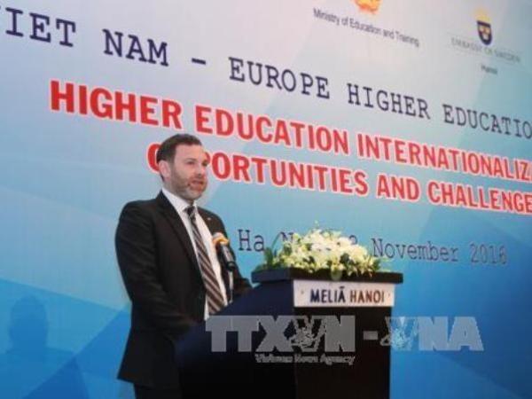 Ouverture du forum sur l'enseignement superieur Vietnam-Europe hinh anh 1