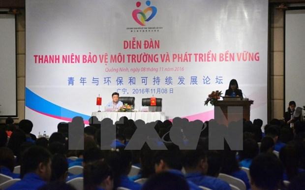 Forum de la jeunesse sur la protection de l'environnement et le developpement durable hinh anh 1