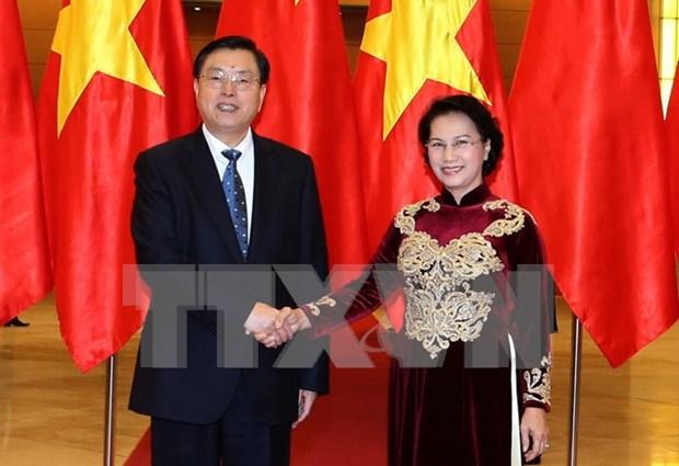 Entretien Nguyen Thi Kim Ngan - Zhang Dejiang hinh anh 1