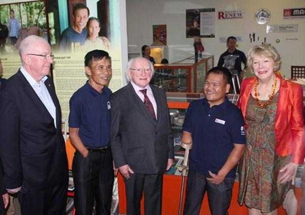 Le president irlandais visite la province de Quang Tri hinh anh 1