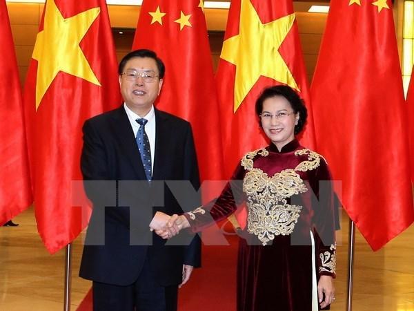 Le president du Comite permanent de l'APN chinoise termine sa visite au Vietnam hinh anh 1