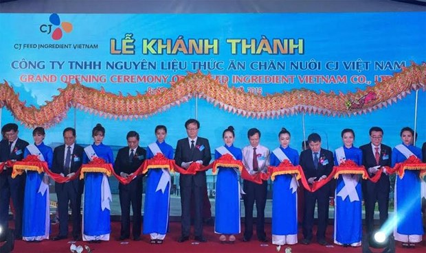 Groupe sud-coreen CJ : inauguration d'une nouvelle provenderie a Ba Ria – Vung Tau hinh anh 1