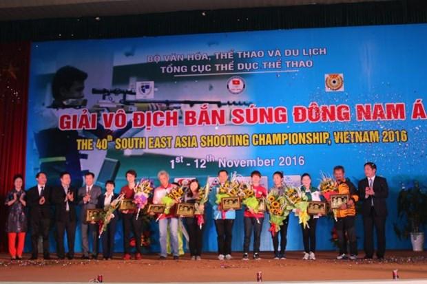 Grande victoire du Vietnam lors des 40e Championnats de tir d'Asie du Sud-Est hinh anh 1