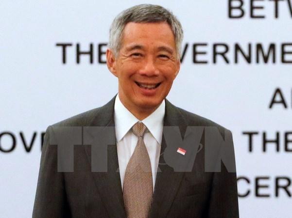 Le Premier ministre singapourien Lee Hsien Loong en visite en Indonesie hinh anh 1