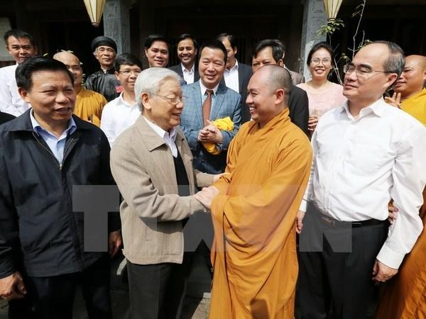 Le SG Nguyen Phu Trong a la Fete de grande union nationale a Bac Ninh hinh anh 1