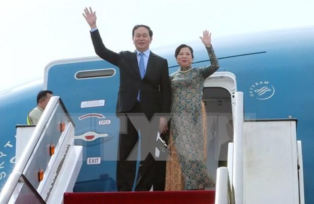 Le president Tran Dai Quang effectue une visite officielle a Cuba hinh anh 1