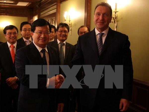 Le vice-Premier ministre Trinh Dinh Dung en visite de travail en Russie hinh anh 1