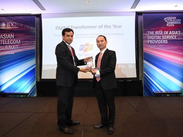 FPT remporte un titre au prix des telecommunications d'Asie-Pacifique 2016 hinh anh 1
