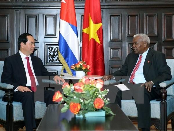 Le president Tran Dai Quang reaffirme les liens avec Cuba hinh anh 1