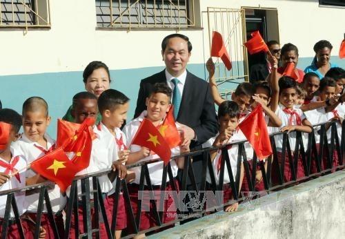 Le president Tran Dai Quang reaffirme les liens avec Cuba hinh anh 2