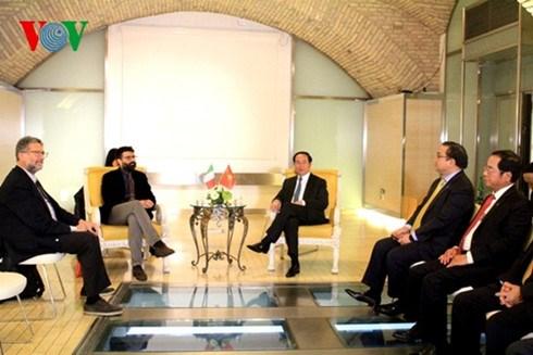 Le president Tran Dai Quang rencontre les dirigeants des Partis de gauche en Italie hinh anh 1