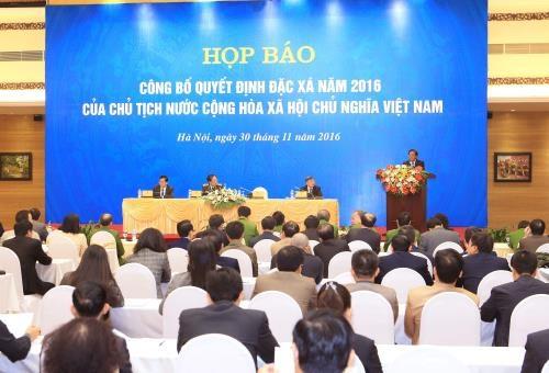 Le president vietnamien publie la decision d'amnistie 2016 hinh anh 1