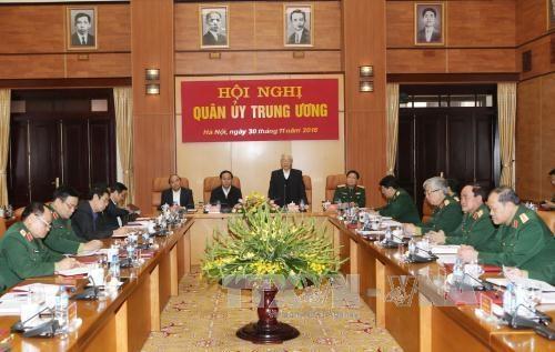 A la Commission militaire centrale, le chef du PCV montre la voie hinh anh 1