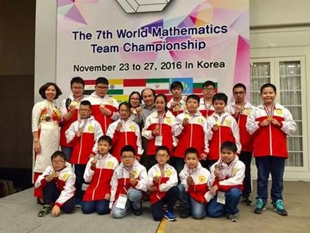 Championnat du monde de mathematiques par equipe 2016: 32 medailles pour le Vietnam hinh anh 1