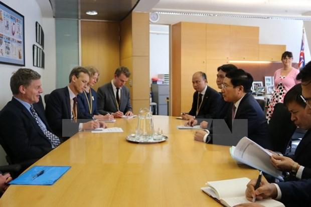 Le vice-Premier ministre Pham Binh Minh en visite officielle en Nouvelle-Zelande hinh anh 2