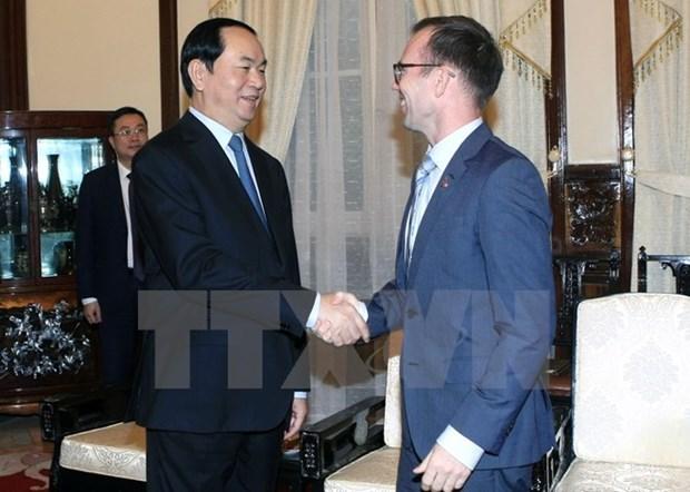 Le President Tran Dai Quang recoit l'Ambassadeur neo-zelandais au Vietnam hinh anh 1