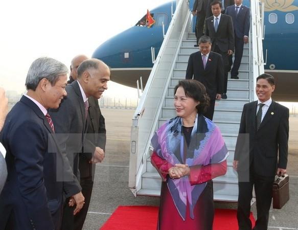 La presidente de l'Assemblee nationale du Vietnam entame sa visite officielle en Inde hinh anh 1