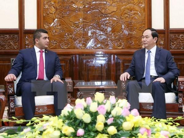 Le president Tran Dai Quang recoit une delegation d'entrepreneurs malgaches hinh anh 1