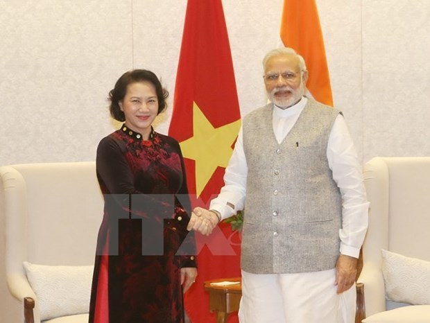Activites de la presidente de l'AN Nguyen Thi Kim Ngan en Inde hinh anh 1