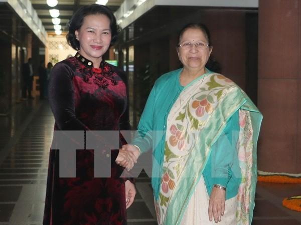 La presidente de l'AN du Vietnam termine sa visite officielle en Inde hinh anh 1