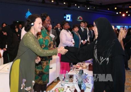 La presidente de l'AN termine sa participation au Sommet mondial des presidentes de parlement hinh anh 1