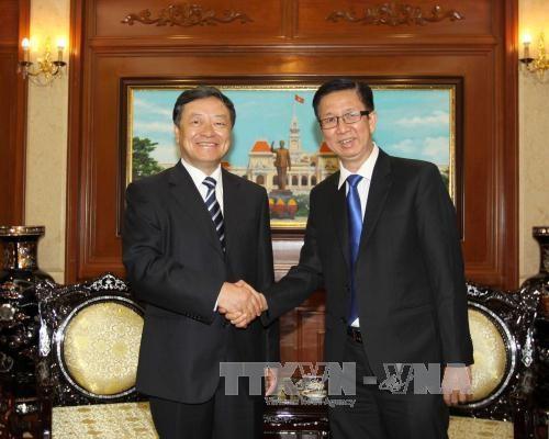 Ho Chi Minh-Ville et la ville chinoise de Dalian renforcent leur cooperation hinh anh 1
