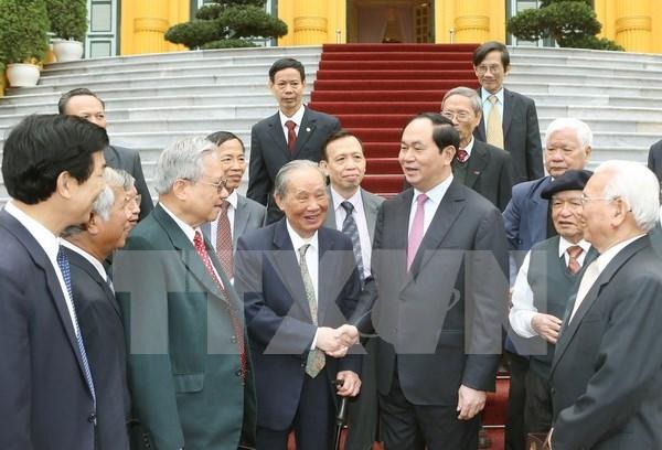 Rencontre d'anciens experts vietnamiens ayant contribue a la revolution du Cambodge hinh anh 1