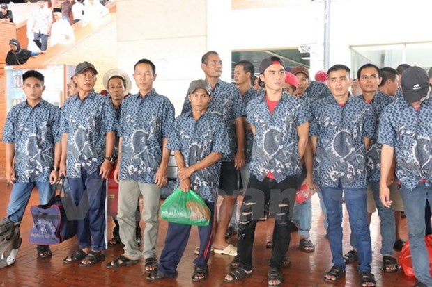39 pecheurs arretes en Indonesie rapatries au Vietnam hinh anh 1