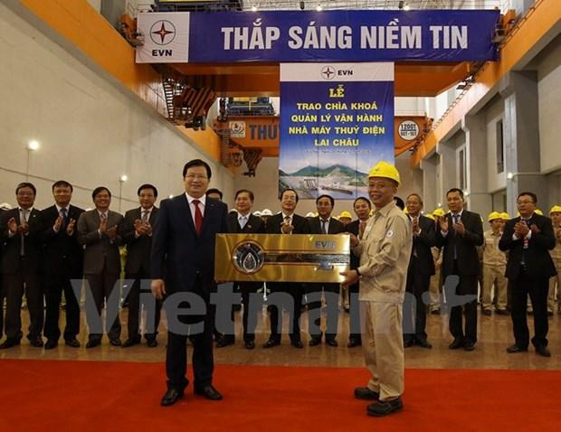 Inauguration de la centrale hydroelectrique de Lai Chau hinh anh 2