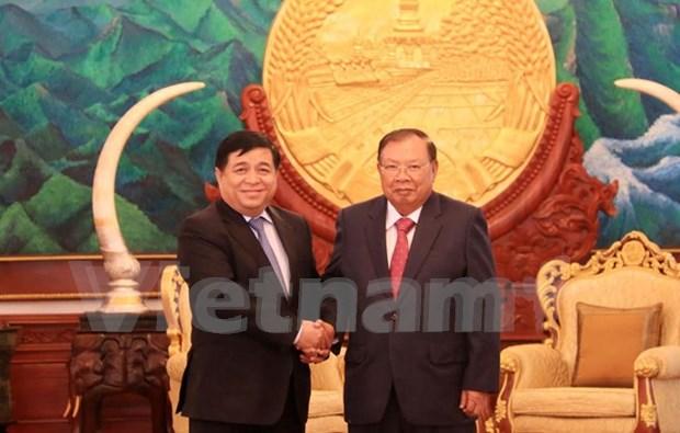Promotion des relations de cooperation Vietnam-Laos hinh anh 1
