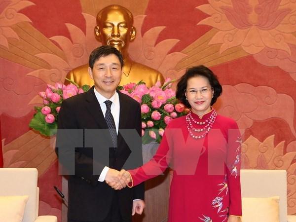 La presidente de l'AN recoit les ambassadeurs de R. de Coree et d'Iran hinh anh 1