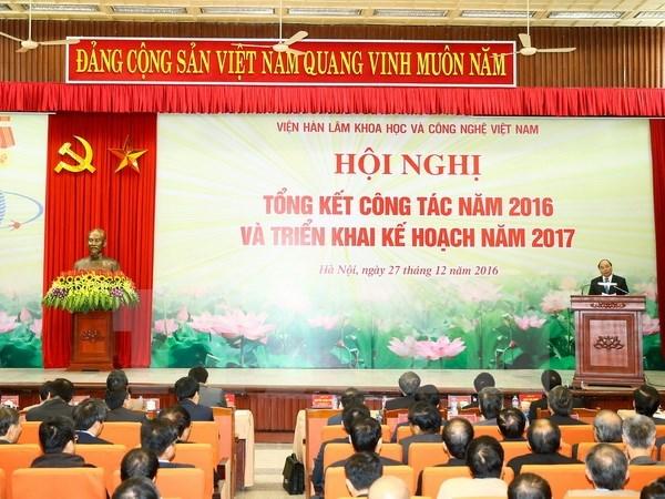 Le PM invite l'Academie des sciences sociales du Vietnam a resoudre les problemes sociaux hinh anh 1