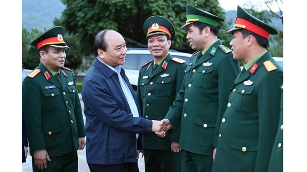 Le Premier ministre Nguyen Xuan Phuc en visite a Cao Bang hinh anh 1