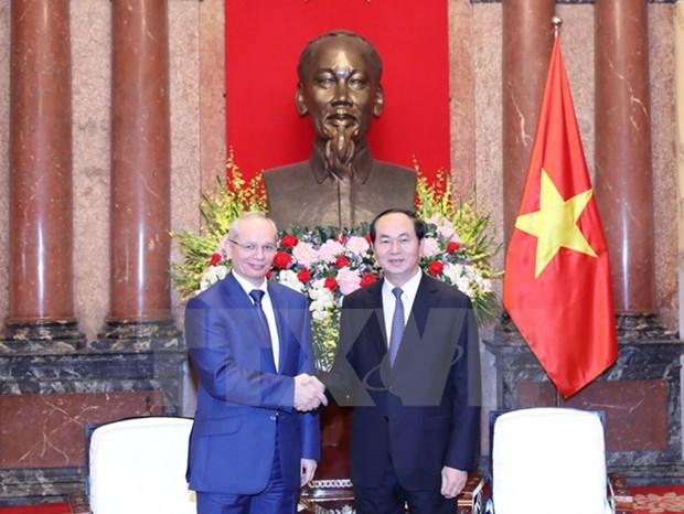Le president Tran Dai Quang recoit le Premier ministre du Bashkortostan hinh anh 1