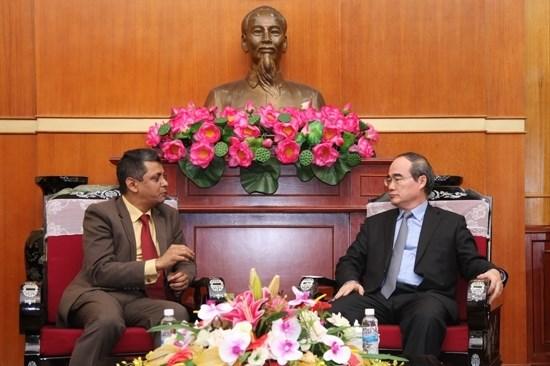 Nguyen Thien Nhan plaide pour une cooperation renforcee Vietnam-Inde entre les entreprises hinh anh 1