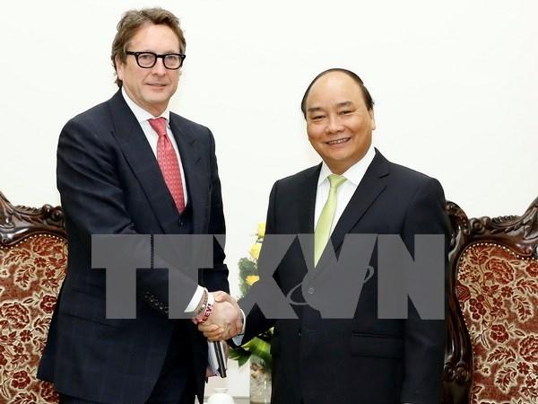Le Premier ministre recoit le president du Fonds d'investissement americain Harbinger hinh anh 1