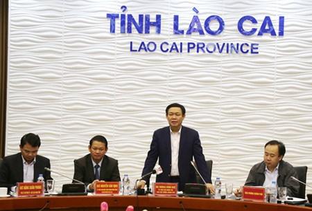 Le vice-Premier ministre Vuong Dinh Hue rencontre les autorites de Lao Cai hinh anh 1