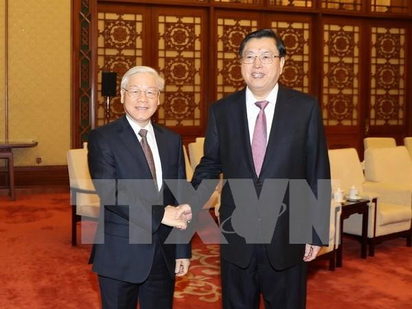 Renforcement du Partenariat de cooperation strategique integrale Vietnam-Chine hinh anh 1