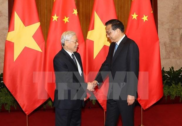 Entrevue entre Nguyen Phu Trong et Li Keqiang hinh anh 1