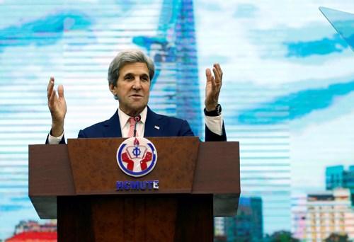 John Kerry rencontre des etudiants de Ho Chi Minh-Ville hinh anh 1