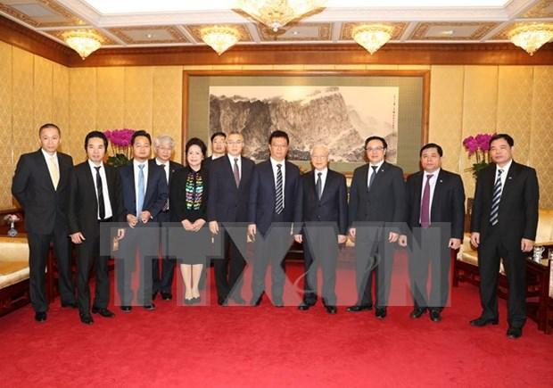 Nguyen Phu Trong rencontre les entreprises chinoises en activite au Vietnam hinh anh 1